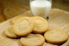 Sugar Cookies and Milk. Stock Photo