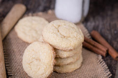 Sugar Cookies with milk Stock Photos