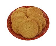 Sugar Cookies on Plate Royalty Free Stock Images