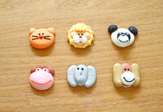 Sugar cookies in shape of various animals Royalty Free Stock Photography