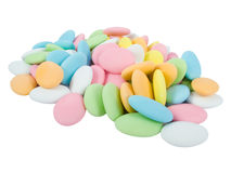 Sugar covered almonds. Stock Image