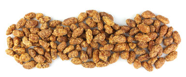 Sugar covered peanuts Stock Images