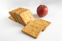 Sugar crackers biscuit snack Royalty Free Stock Photos
