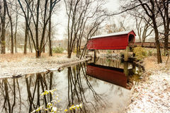 Sugar Creek Covered Bridge Stock Images