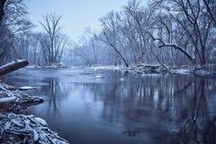Sugar Creek en hiver Photo stock