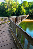 Sugar Creek Suspension Bridge Indiana Stock Images