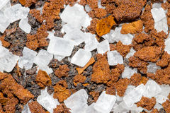Sugar Crystals on Coffee and Tea Stock Photos