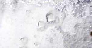 Sugar crystals. Macro shot of moving sugar crystals stock footage