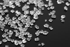 Sugar crystals. Macro view of sugar crystals Royalty Free Stock Photos