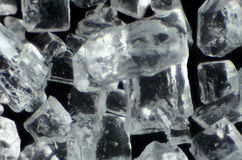 Sugar crystals in microscope Stock Photo