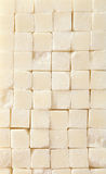 Sugar cube background, close up Stock Photos