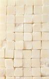 Sugar cube background, close up Stock Photos