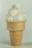 Sugar Cube Cone Royalty Free Stock Images