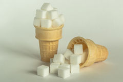 Sugar Cube Cones Royalty Free Stock Photography