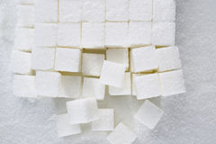 Sugar cube. On white background Stock Images