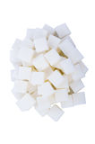 Sugar cube. On white background Royalty Free Stock Image