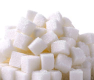 Sugar cube on white background Royalty Free Stock Photography