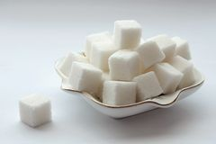 Sugar cubes_ Stock Images