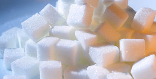 Sugar cubes. In warm and cool light Stock Images