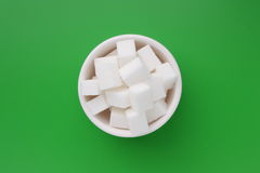 Sugar cubes in a bowl Stock Photography