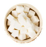 Sugar cubes in a bowl Royalty Free Stock Photography