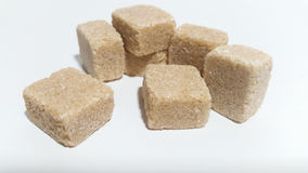 Sugar cubes. Brown sugar cubes stock photography