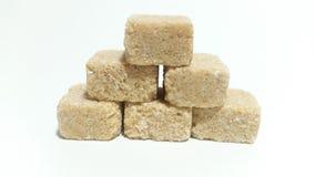 Sugar cubes. Brown sugar cubes royalty free stock photo