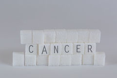 Sugar Cubes Cancer Stock Afbeelding