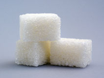 Sugar cubes. The close up of some sugar cubes Royalty Free Stock Photos