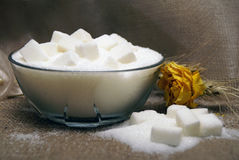 Sugar cubes composition Stock Photography