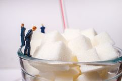 Sugar Cubes Drink Businessmen foto de stock royalty free