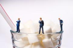 Sugar Cubes Drink Businessmen imagenes de archivo