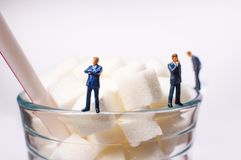 Sugar Cubes Drink Businessmen imagem de stock