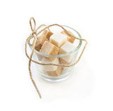 Sugar cubes in glass  bowl Royalty Free Stock Photography