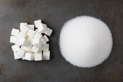 Sugar Cubes and Granulated Stock Images
