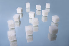 Sugar cubes heap 1 Royalty Free Stock Photo