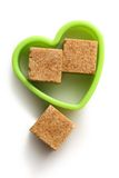 Sugar cubes in heart form Stock Photo