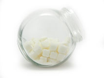 Sugar cubes in a jar Royalty Free Stock Images