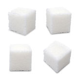 Sugar cubes. Set of sugar cubes on white background Stock Photography