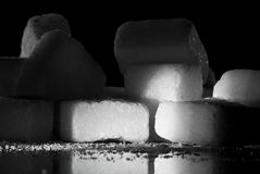 Sugar cubes with shadows Royalty Free Stock Images