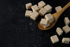 Sugar cubes. On the table Stock Image