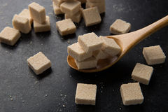 Sugar cubes. On the table Royalty Free Stock Photo