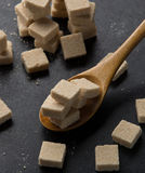 Sugar cubes. On the table Stock Images