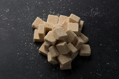 Sugar cubes. On the table Stock Photography