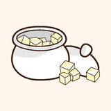 Sugar cubes theme elements vector,eps Stock Photo