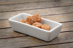 Sugar cubes in tray Stock Photo