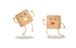 Sugar Cubes Vector Illustration im flachen Design Lizenzfreies Stockbild