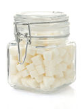 Sugar cubes on white Royalty Free Stock Photo
