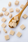 Sugar cubes. On white background Royalty Free Stock Image