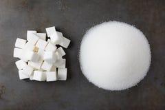 Sugar Cubes y granulado Imagenes de archivo